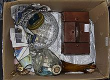 Miscellaneous Lot. Comprising Atomiser, Glass Crested Ware, Pottery, etc.