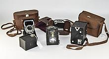 Collection Of 5 Cameras Comprising AGILUX Agifold In Leather Case, Kodak Si