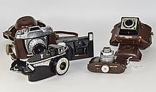 Collection Of 5 Cameras Comprising Coronet Victor With Leather Case, Bencin