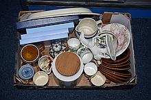 Box Of Miscellaneous Ceramics And Pottery. Comprising Staffordshire Meat Pl