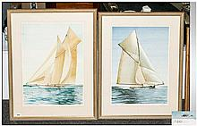 Alastair D. Houston Marine Artist Pencil Signed - Pair of Ltd Edition and N