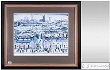L.S.Lowry 1887-1976 Pencil Signed Limited Edition Coloured Print Of 850 Onl