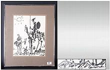 Picasso Contemporary Framed Print, mounted and behind glass. 11 by 13 inche
