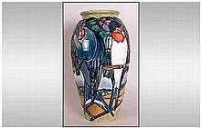 Moorcroft Limited Edition & Numbered Modern Vase, 'Swallows Pattern' Number