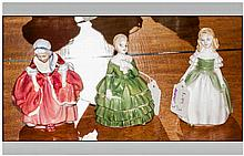 Royal Doulton Figurines ( 3 ) In Total. 1/ Goody Two Shoes. HN.2037. Issued