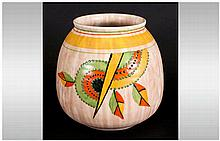 Art Deco Style 'Jazzy' Jug Design by Bewley Pottery, marks to base, 6 inche