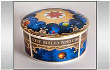 Royal Worcester Fine Bone China Millennium Lidded Circular Trinket Jar. Dat