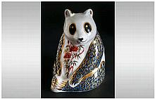 Royal Crown Derby Paperweight ' Panda ' Gold Stopper, 1996. 1st Quality and