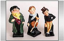 Royal Doulton Dickens Series Figures ( 3 ) In Total. 1/ Tony Weller HN544,