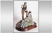 Border Fine Arts Handmade Figure ' Shepherd and Border Collie ' Time For Re