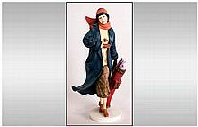 Royal Doulton Hand Painted Figure ' To The Fairway ' CL4008. Stands 10 Inch