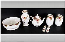 Royal Albert 'Old Country Roses' (7) pieces in total. Comprising teapot, pa