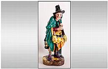 Royal Doulton Early Figure ' The Mask Seller ' HN.2103. Designer L. Harradi