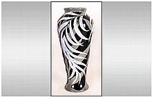 Moorcroft Rare and Quality Modern Trial Vase. Dated 7.2.14. Silver Leaf's o