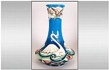Moorcroft Limited Edition & Numbered Vase 'Obyssey' Greek Myths Swan Vase,