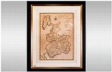 An Engraved 19th Century Of Lancashire by J. Gary. 1754-1835. Published by