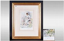 Gordon King Pencil Signed Limited Edition Fine Art Colour Print Mounted & f