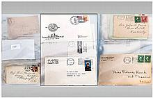 Sixty Plus American Stamp Covers From The 1800's Onwards. Will reward resea