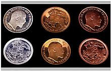 Retro Pattern Collection Coins Boxed.  Proof Quality Coins showing Edward V