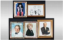 Signed Autographed Photos of Celebrities from the 1960's. Including John In