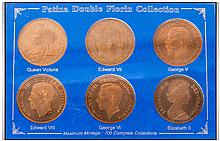 Patina Double Florin Six Coin Collection In Clear Plastic Case from the Spi