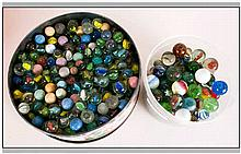A Collection of Vintage Antique Marbles.