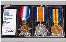 World War 1 Trio of Military Medals. Awarded to - D.A. 8017, E.G. Clarke, D