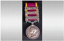 Second China War 1856-1860 Military Campaign Medal 3 Bars / Clasps - Canton