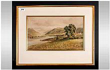Malcolm Crouse (Exh. 1907) Scottish Scene 'Loch Fyne, Dunderave Castle) ins