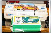 Two Corgi Diecast Models Comprising 97635 General Motors Coach And AEC508 F