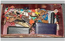 Leather Case Containing Miscellaneous Assorted Items including ladies manic
