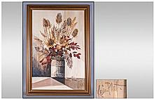 A Kevin Platt Oil Painting of Vase of Flowers. 30