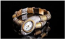 Ladies Novelty Wristwatch, In The Form Of A Coiled