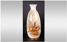 Royal Worcester Hand Painted Vase, 'Pheasants In A