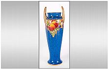 Royal Worcester Hand Painted Two Handle Vase Decor