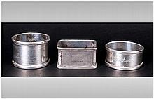 Antique Silver Napkin Holders, 3 in total. All ful