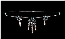 North American Navajo Style Dreamcatcher Necklace,