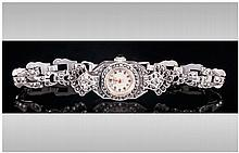 Ladies Silver ''ADMES Geneve'' Cocktail Wristwatch