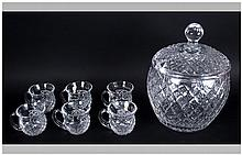 Waterford Very Fine and Impressive Cut Crystal Lid