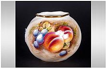 Royal Worcester Handpainted Fallen Fruits Decorate