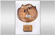 Trench Art Brass Ash Tray Dated April 1915, Magdeb