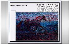 Alfredo Arreguin Signed Poster For Tacoma Art Muse