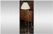 Gold Tone Modern Standard Lamp
