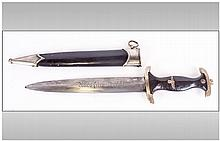 German SA Dagger With Scabbard, Marked to Blade 'W