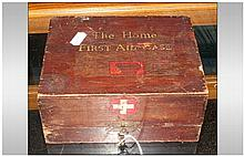 Military Interest The Home First Aid Case, Red Cro