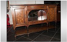 An Edwardian Rose Wood Inlaid Chiffonier Cabinet p