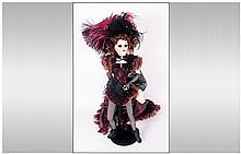 Franklin Mint Heirloom Boxed Doll, An original des