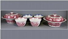 Enoch Woods 6 Pieces, 4 pudding basins & 2 covered
