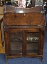 Arts And Crafts Style Oak Book Case Sing