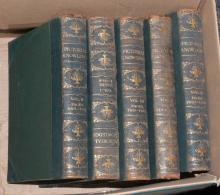 Five Volumes Of Leather Bound Pictoral K